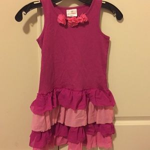 LAST DROP ‼️ Hanna Andersson Girls Pink Dress Sz:8